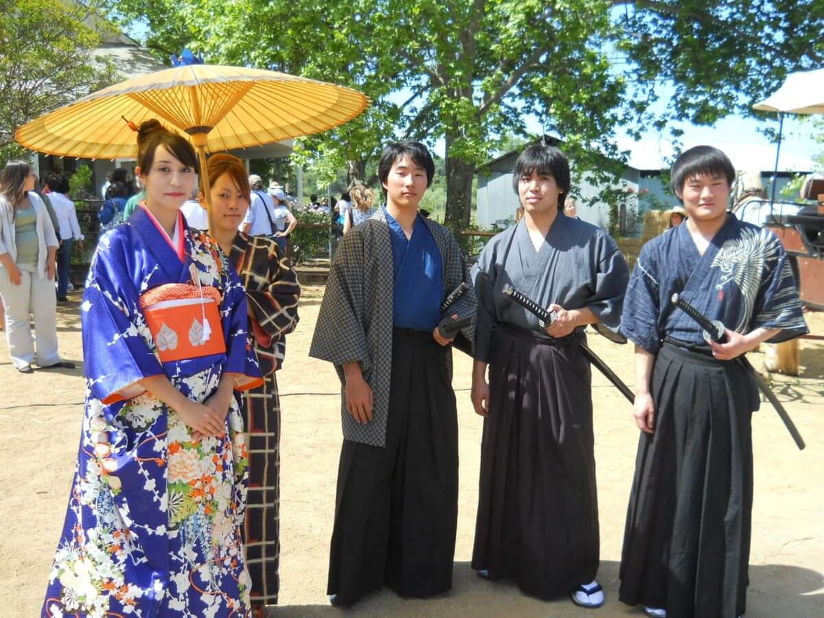 wakamatsu fest people in traditional costume, el dorado county