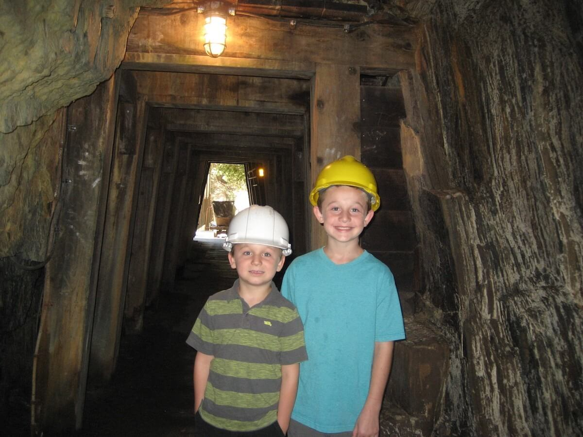 Children in Gold Bug Mine, El Dorado County