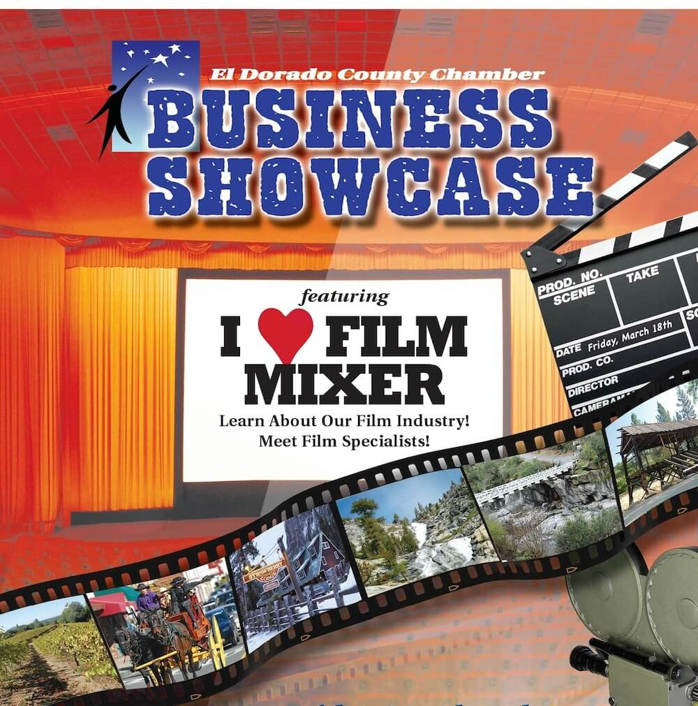 El Dorado County Chamber Business Showcase I Love Film Mixer graphic