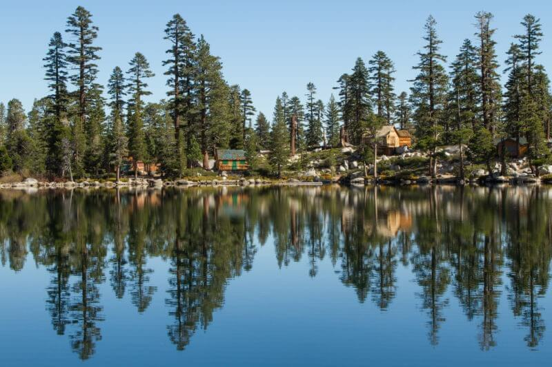 View of Angora lakes from hiking trail | el dorado county